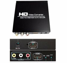 1080P HDMI to HDMI CVBS RCA L/R Composite Video Audio Converter PAL/NTSC Zoom