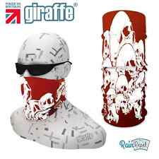 G288 Skull pile bood red Headwear Neckwarmer multifunctional Bandana Headband