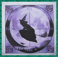 Purple Witch Scrying/Dowsing Mat ideal for use with a pendulum, Wicca divination