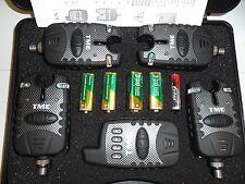 4 x Wireless bite alarms, Receiver, 2.5mm jacks. dropbacks, latch light, tone