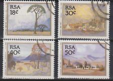 RSA South Africa 1989 Landscape Paintings by J.Pierneef SG 689/92 USED ART TREES