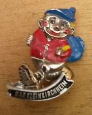 Vintage Oktoberfest Hiking German Bavarian Ski Hat Pin BAD KLEINKIRCHHEIM
