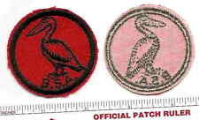 VINTAGE RED TWILL PATROL PATCH -  PELICAN - 1950s Era - Gum Back