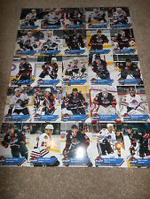 2011-12 Rockford Icehogs Uncut Hockey Card Sheet Autographed by 15 Players NICE!
