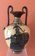 "Ancient Greek  Greece Vase with Hector W Sword & Shield  Museum Replica  9"" Tall"