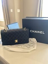 100% Authentic Chanel Medium Black Classic Flapbag Gold HW Handbag Purse