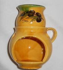 Brand New Provence Made in France Mini Fondue or Oil Burber Olive Pattern
