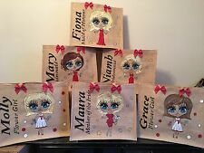 Personalised Jute Bags! Bridesmaid Mother Of Bride Bride Flower Girl Gifts