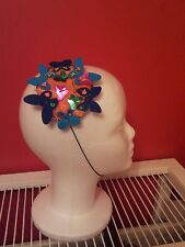 Handmade unique fascinator. Butterflies. Burlesque vintage. Colourful