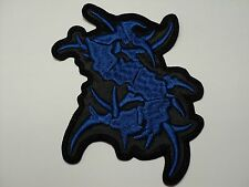 SEPULTURA S  BLUE SHAPED  EMBROIDERED PATCH