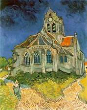 Van Gogh Church at Auvers-sur-Oise Giclee Fine Art Canvas Print
