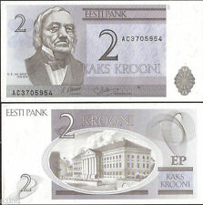 Estonia - 2 Krooni -  UNC currency note - 2007 issue