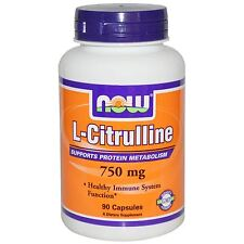 Now Foods, L-Citrulline, 750 mg, 90 Capsules, Healthy Immune System Function