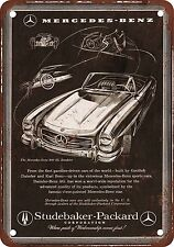 "7"" x 10"" Metal Sign - 1957 Mercedes-Benz from Studebaker-Packard - Vintage Look"