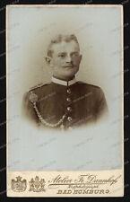 CDV-Photo-Atelier-Dannhof-Bad Homburg-studio-Portrait-Militär-Kaiserreich-
