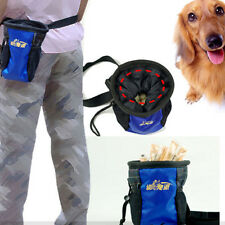 Pet Dog Puppy Snack Obedience Agility Bait Training Food Treat Pouch Bag Blue S5