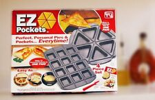 EZ Pockets EZ-1000 Gray Non-Stick Steel 4-Piece Baking Kit with Cutting Tool and