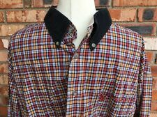 Wrangler PBR Professional Bull Riders Red Yellow Plaid Long Sleeve Shirt XXL
