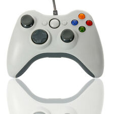 Wired Xbox 360 USB Remote Controller for PC Windows Computer White CA