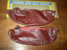 1937-38-39-40-41-42-46-47-48 FORD MERCURY ARM REST COVERS IN BOX 'RED