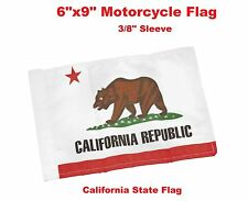 "Pro Pad Motorcycle Flag 6""x9"" State of California Flag Fits 3/8"" Flag Poles"