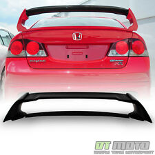 Matte Black 2006-2011 Honda Civic FA 4-Dr Sedan MG Style Rear FRP Spoiler Wing