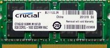 Crucial Ram Memoria 8GB DDR3 PC3-12800,1600 MHz per 2012 Apple Macbook Pro's