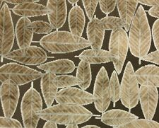 POLLACK ASSOCIATES LEAF PLUSH ACORN BROWN JACQUARD VELVET FABRIC BY THE YARD