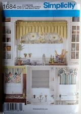 Simplicity Sewing Pattern 1684 Window Treatments Valance Roman Shade Valances