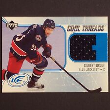 GILBERT BRULE - RC 2005/06 ICE Cool Threads #CTGB - Columbus Blue Jackets Rookie