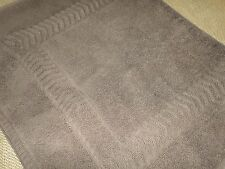 SUNNY TEXTILES ELITE CHOCOLATE BROWN CHEVRON THICK STEP-OUT BATH MAT TOWEL 19X32