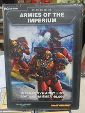 WARHAMMER 40K CODEX ARMIES OF THE IMPERIUM - INTERACTIVE ARMY LIST PC CD ROM