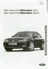 Liste de prix Ford Mondeo viva sport 2.6.03 2003 prix price List voiture voitures prices