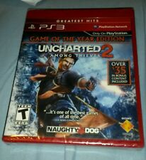 UNCHARTED 2 AMONG THIEVES GAME OF THE YEAR PS3 RETAIL GAME FACTORY SEALED NEW