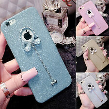 Ultra Thin Crystal Bling Diamond Silicone Case Cover For iPhone 6/6S Plus Blue