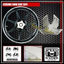 CHROME RIM TAPE WHEEL STRIPE TRIM MOTO CAR BIKE BICICYLE STICK DECAL 16 17 18 19