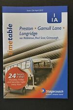 Stagecoach  Preston Gamull Lane Longridge 1 1A Lancashire 12/04/15 bus timetable