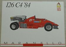 FERRARI Galleria 1993 126c4 f1 1984 Scheda Card brochure prospetto book libro Press