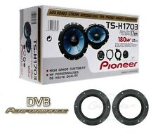 "Pioneer TS-H1703 6.5"" 2 way component speakers with VW T5 Speaker mounts"