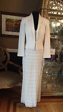 A1073 DAYMOR 2053 LEMON 304 SZ 4 $790 FORMAL PARTY  DRESS JACKET