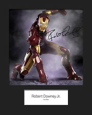ROBERT DOWNEY JR (IRON MAN) #2 Signed Photo Print 10x8 Mounted Photo Print