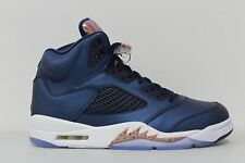 Men's Nike Air Jordan 5 Retro V Olympic Bronze Tongue Navy 136027 416 Size 10.5