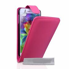 PINK FLIP LEATHER PHONE CASE WITH CARD SLOT FOR SAMSUNG GALAXY S i9000 UK SELL