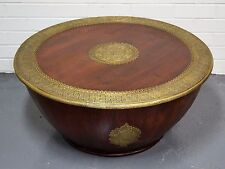 Coffee Table Unique Statement Table Indian Moroccan Vintage Antique Brass Metal