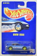 HOT WHEELS 1991 BLUE CARD COLL #149  BMW 850i  LIME WHEELS