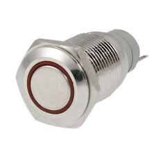Angel Eye RED Led Light 16m12V Metal Momentary Push Button Switch S*