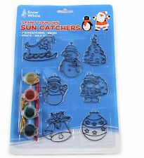 DIY Christmas Paint Your Own Decorations Sun Catchers Children Crafts Activity