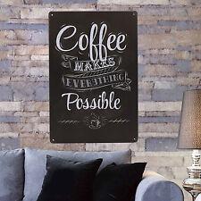POP Coffee Vintage Tin Sign Bar Pub Shop Home Wall Decor Retro Metal Art Poster