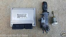 2000 VW PASSAT ECM ENGINE CONTROL MODULE UNIT IGNITION SWITCH & KEY DOOR LOCK