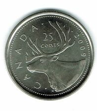 2009 Logo Canadian Brilliant Uncirculated Caribou Twenty Five Cent coin!